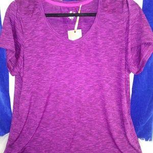 Spalding Tops - Spalding Purple V- neck Top Size 1X